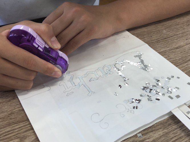 八西中生徒デザイン紙袋イメージ2