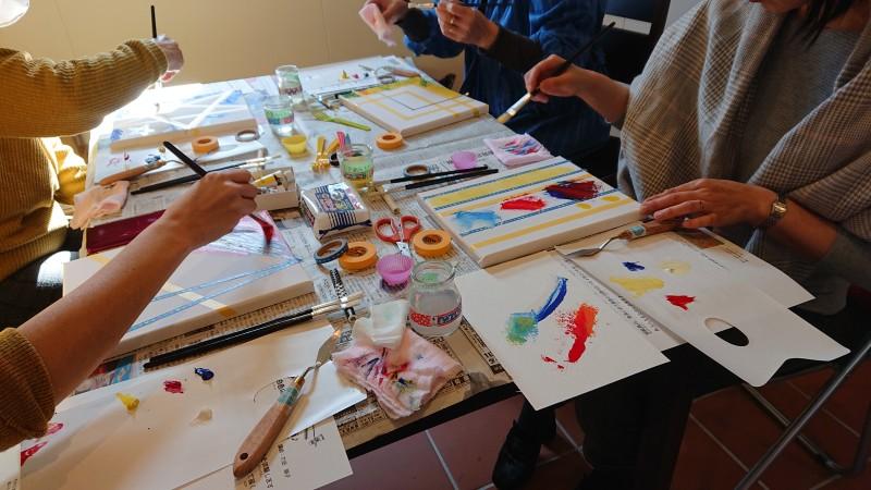 油彩画体験教室イメージ2