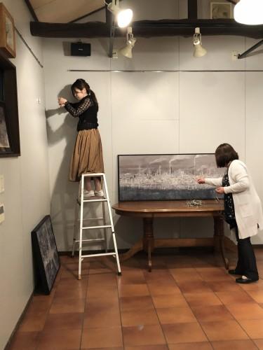 伊東春香日本画展  搬入中です!イメージ2